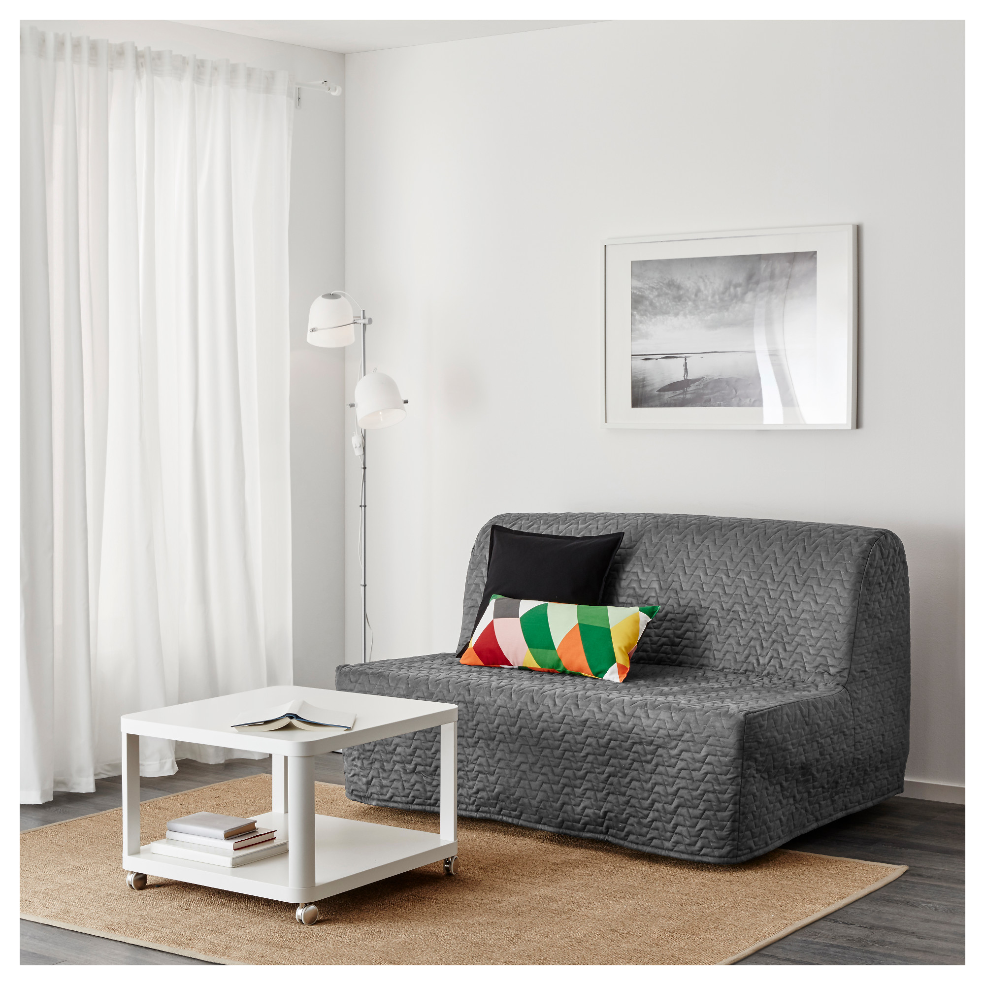 LYCKSELE L–V…S Sleeper sofa Vallarum gray IKEA