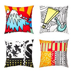 SPRIDD cushion cover, assorted patterns Length: 65 cm Width: 65 cm