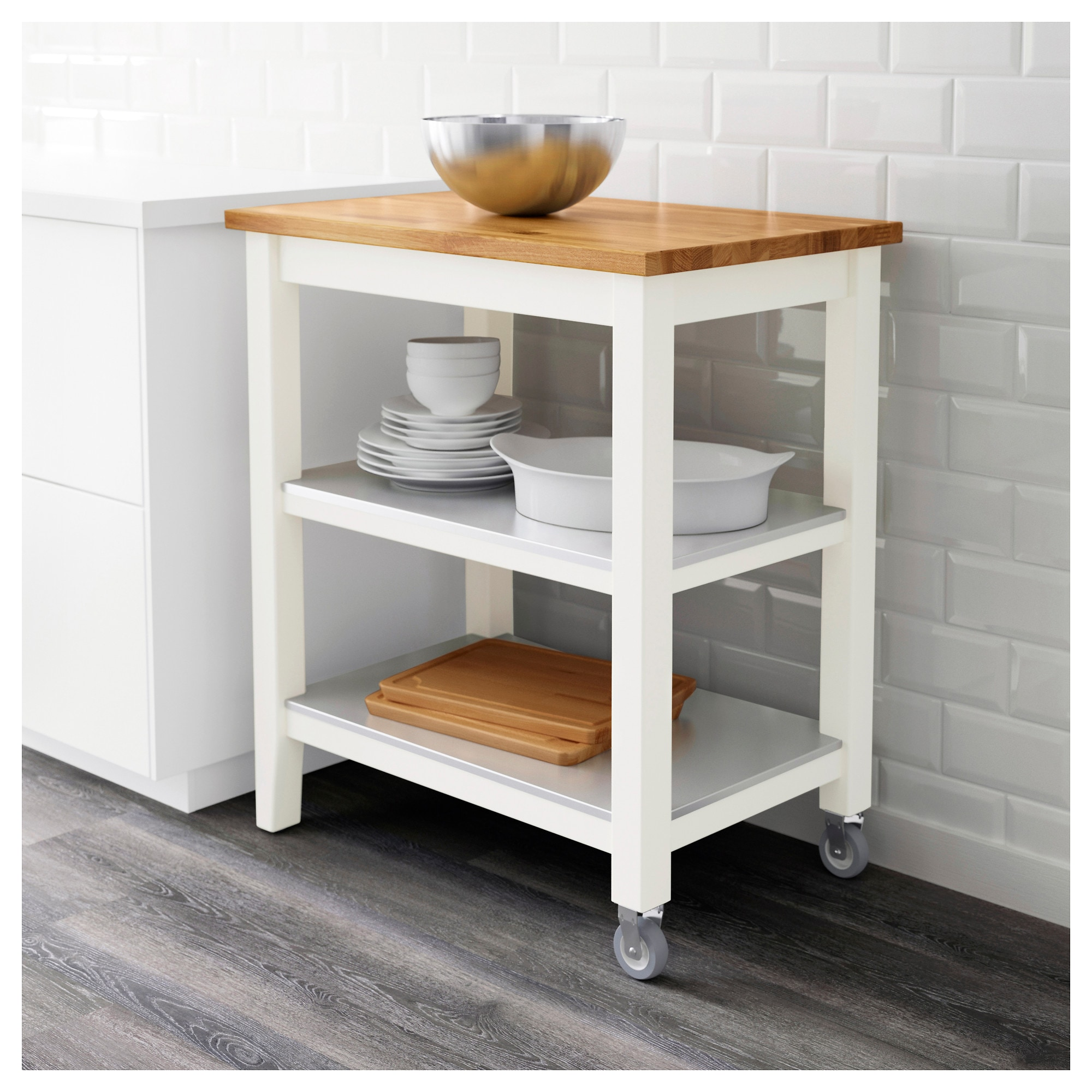 trolley stainless innovative gallery c l steel with r grundtal cart k kitchen shelf ikea