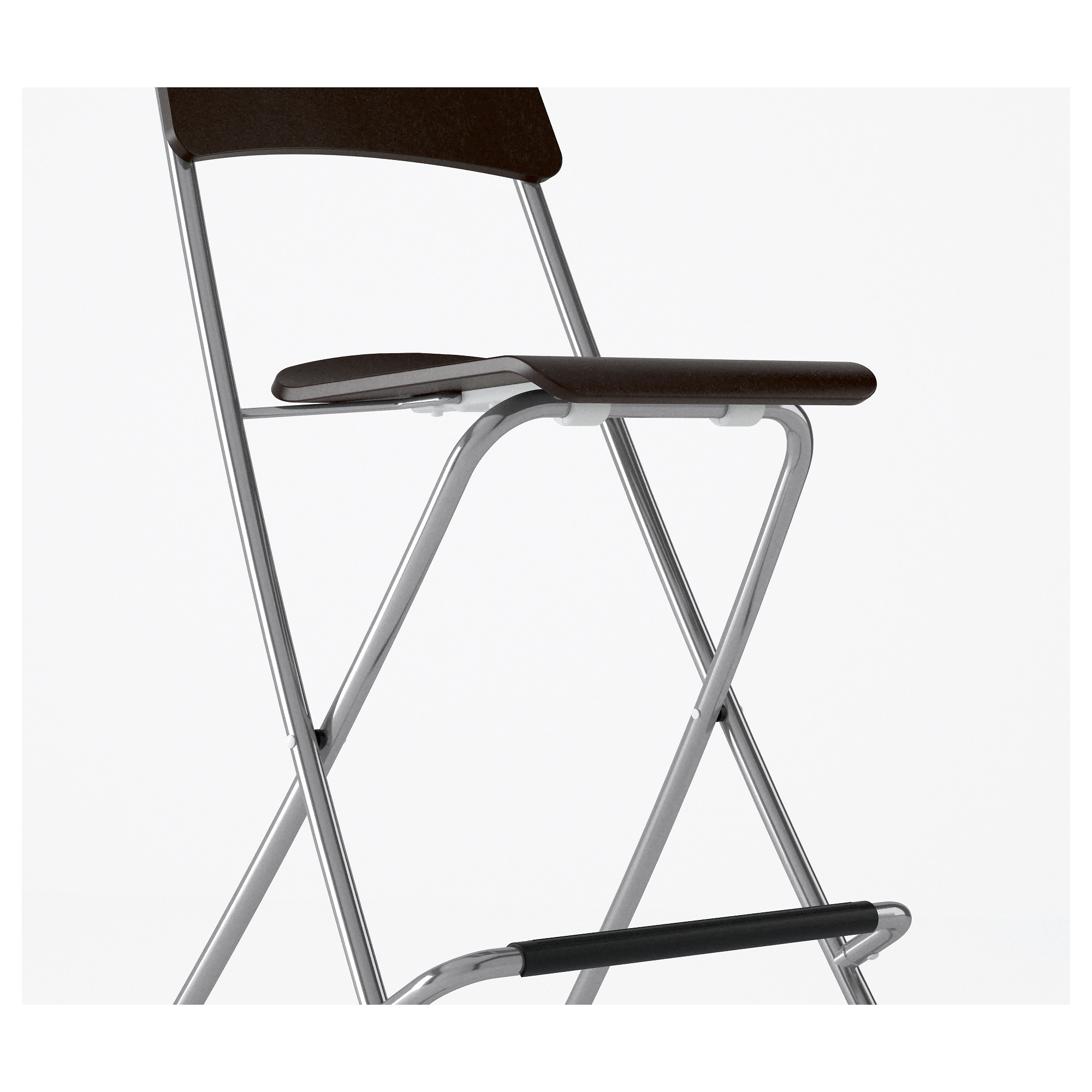 "FRANKLIN Bar stool with backrest foldable 24 3 4 "" IKEA"