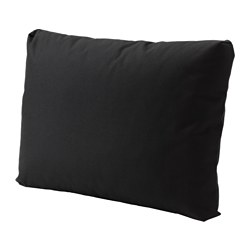 KUNGSÖ back cushion, outdoor, black Width: 62 cm Depth: 44 cm Thickness: 18 cm