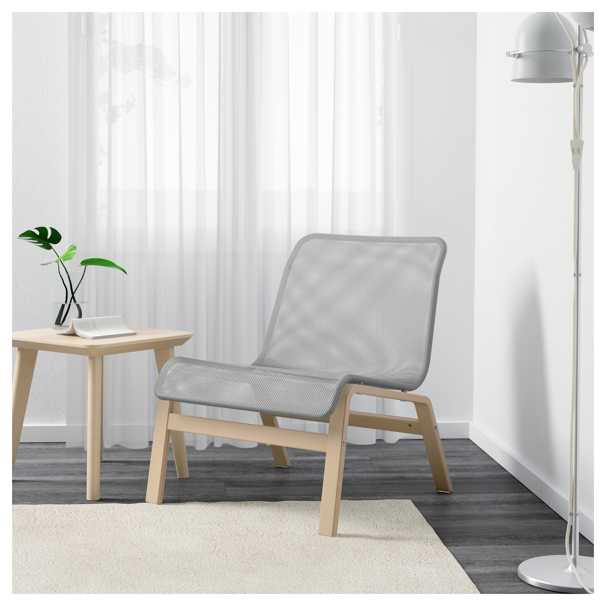 NOLMYRA Chair birch veneer gray IKEA