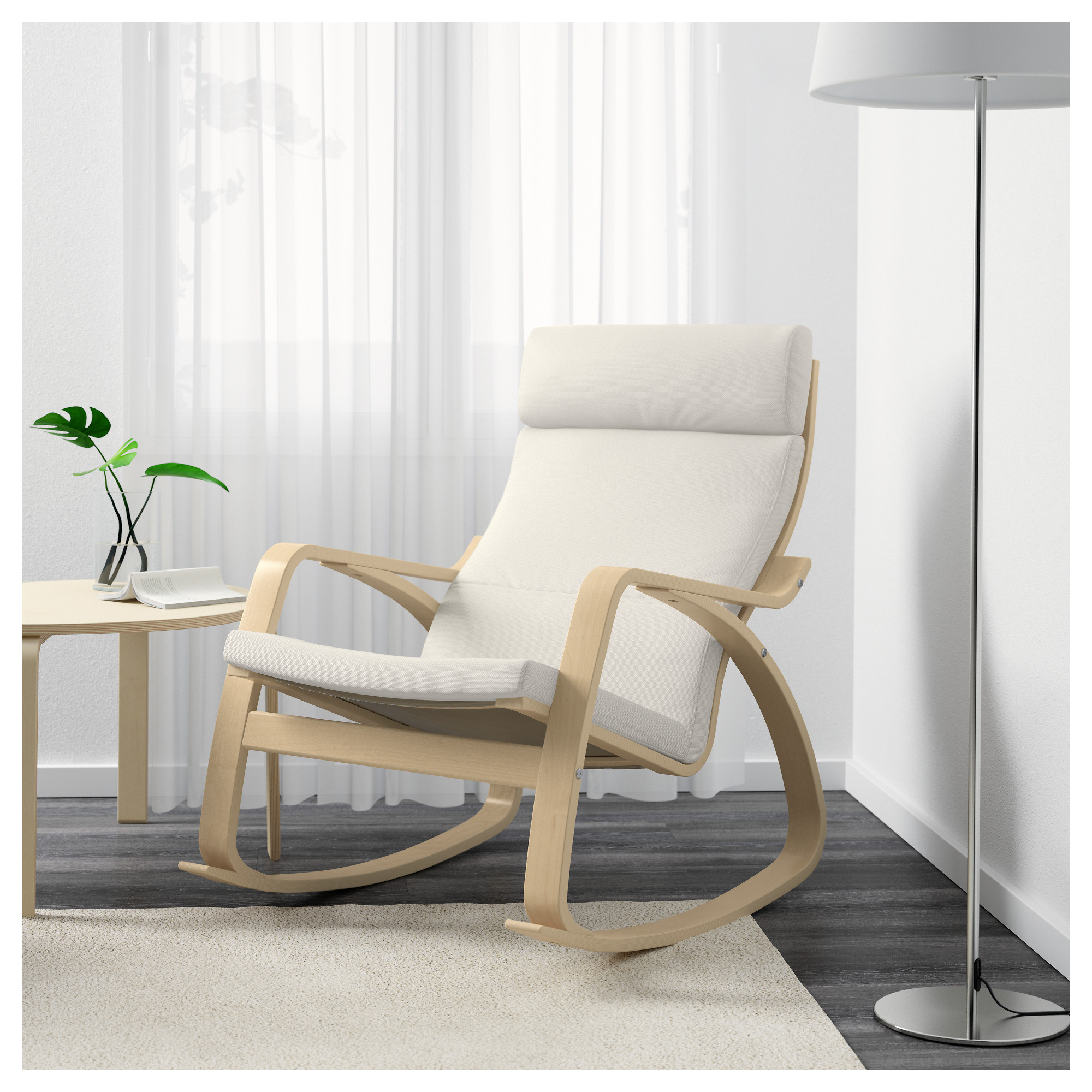 "PO""NG Rocking chair Finnsta grey IKEA"