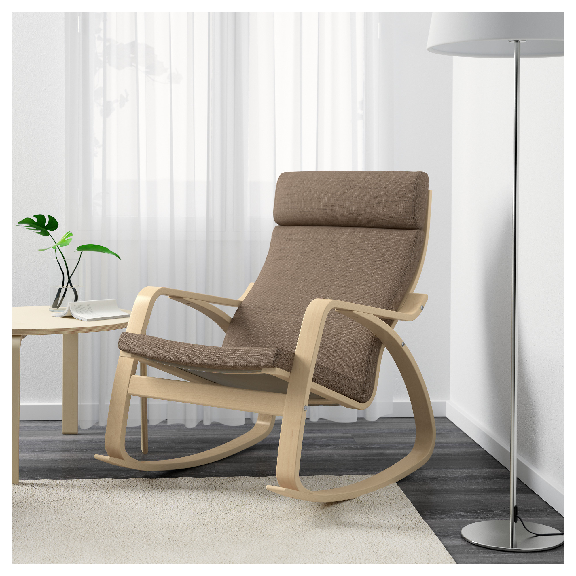 "PO""NG Rocking chair Isunda beige IKEA"