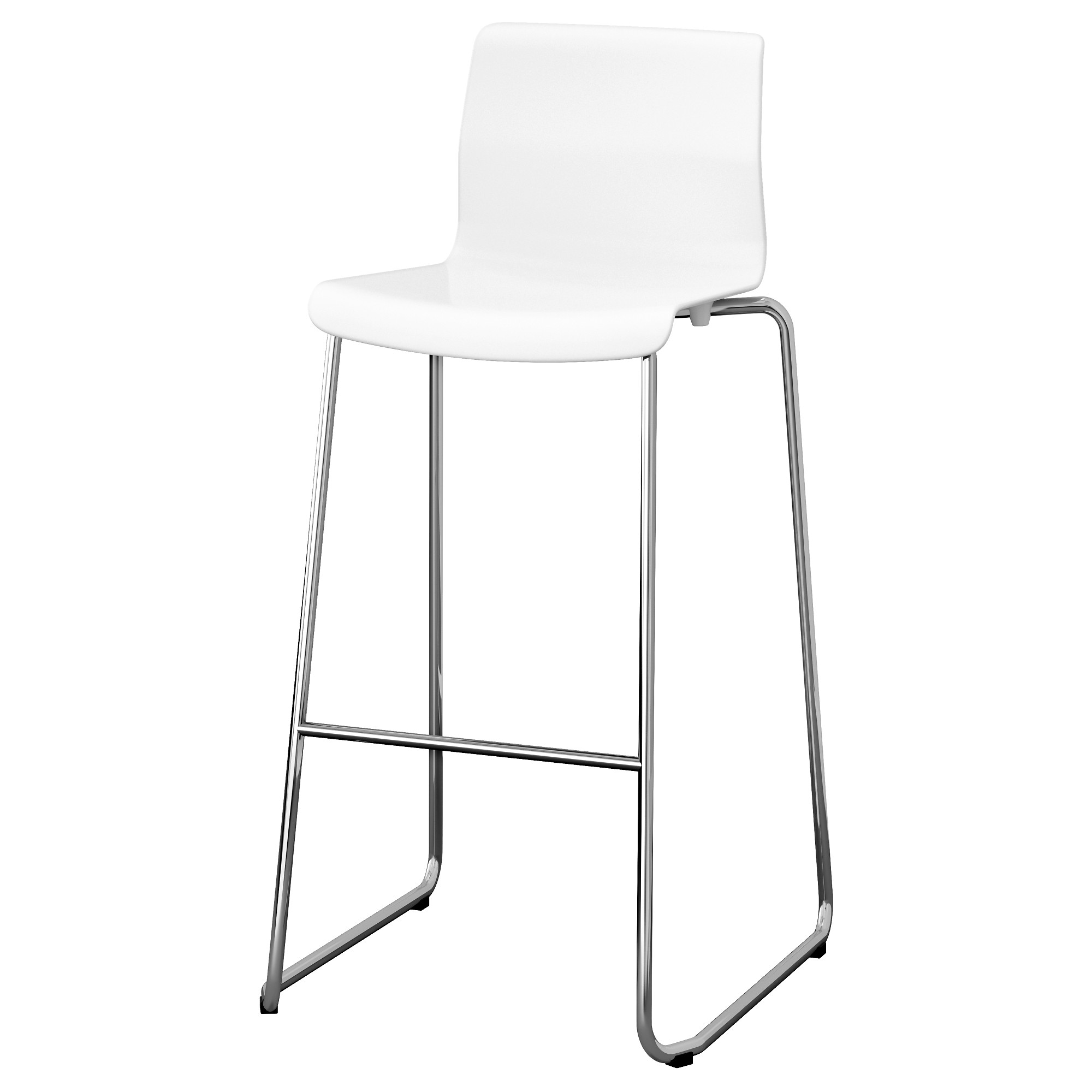 GLENN bar stool, white, chrome plated Tested for: 220 lb Width: 19