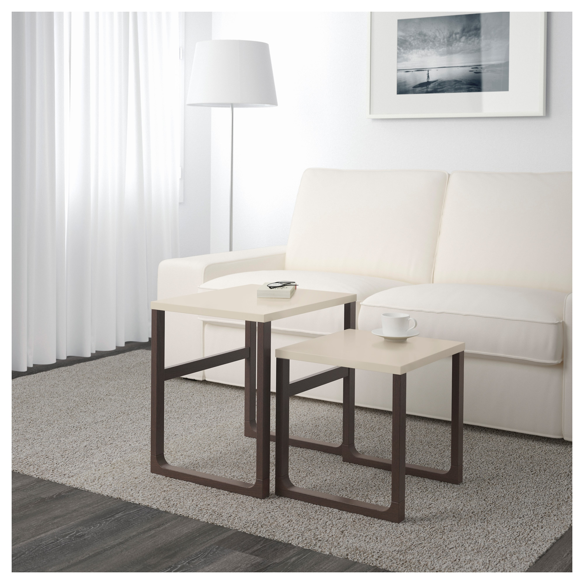 Rissna nesting tables set of 2 ikea geotapseo Gallery