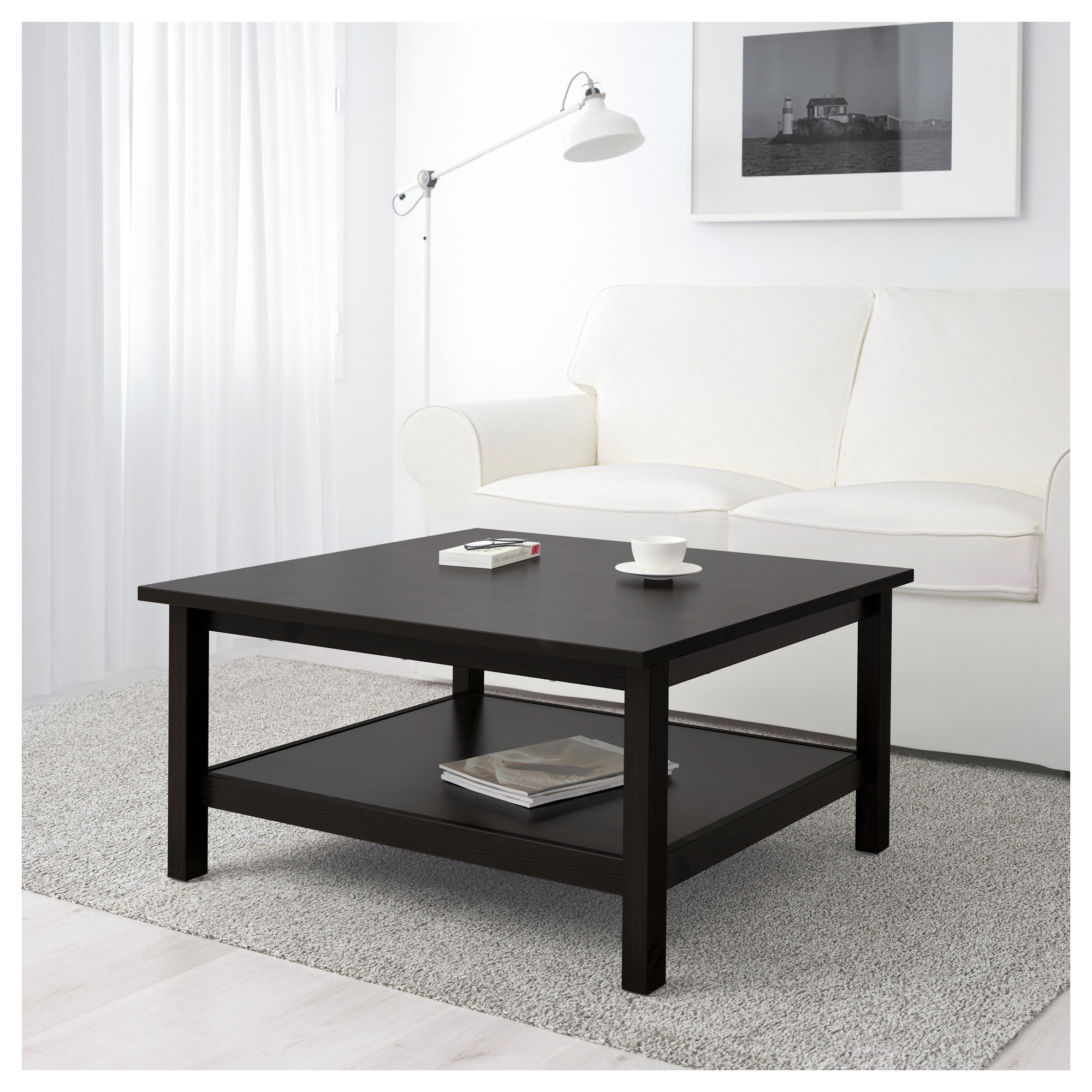 HEMNES Coffee table black brown IKEA