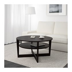 VEJMON coffee table, black-brown