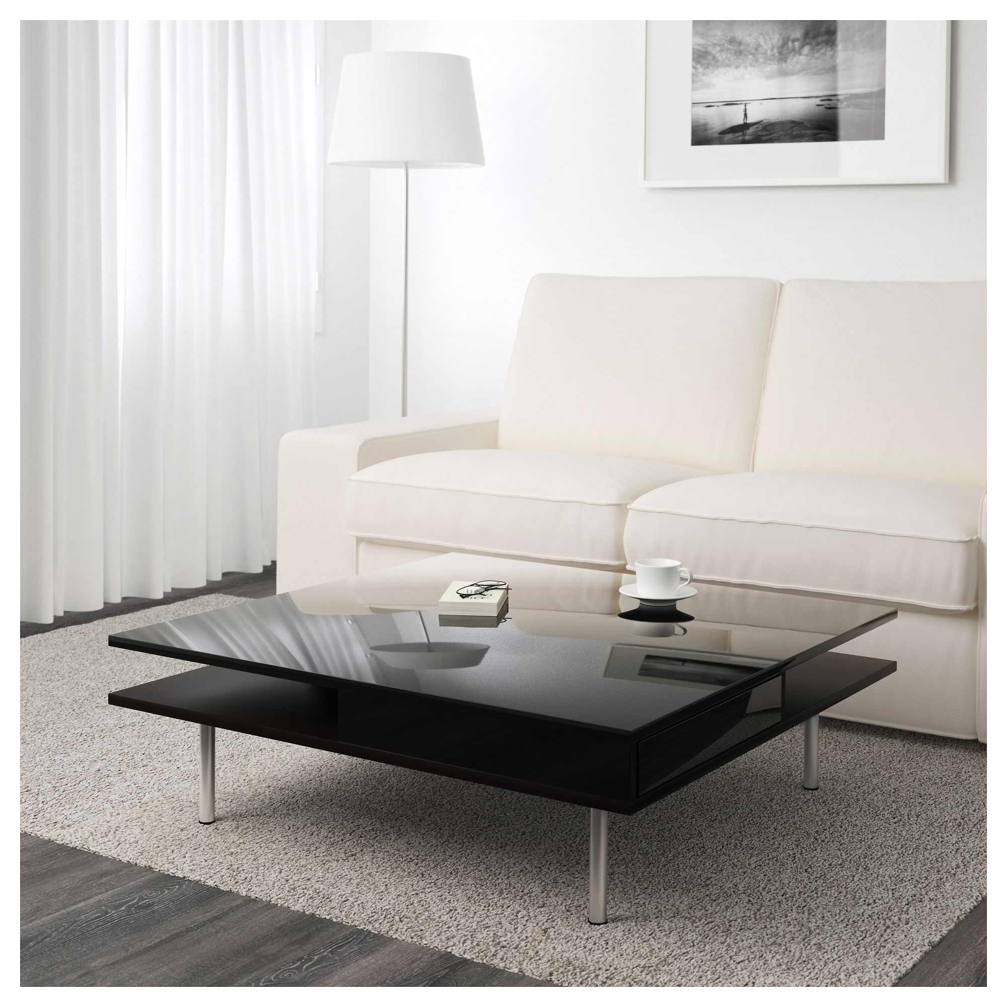 Tofteryd coffee table high gloss black ikea geotapseo Image collections