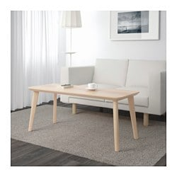 LISABO coffee table, ash veneer