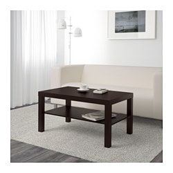 LACK coffee table, black-brown