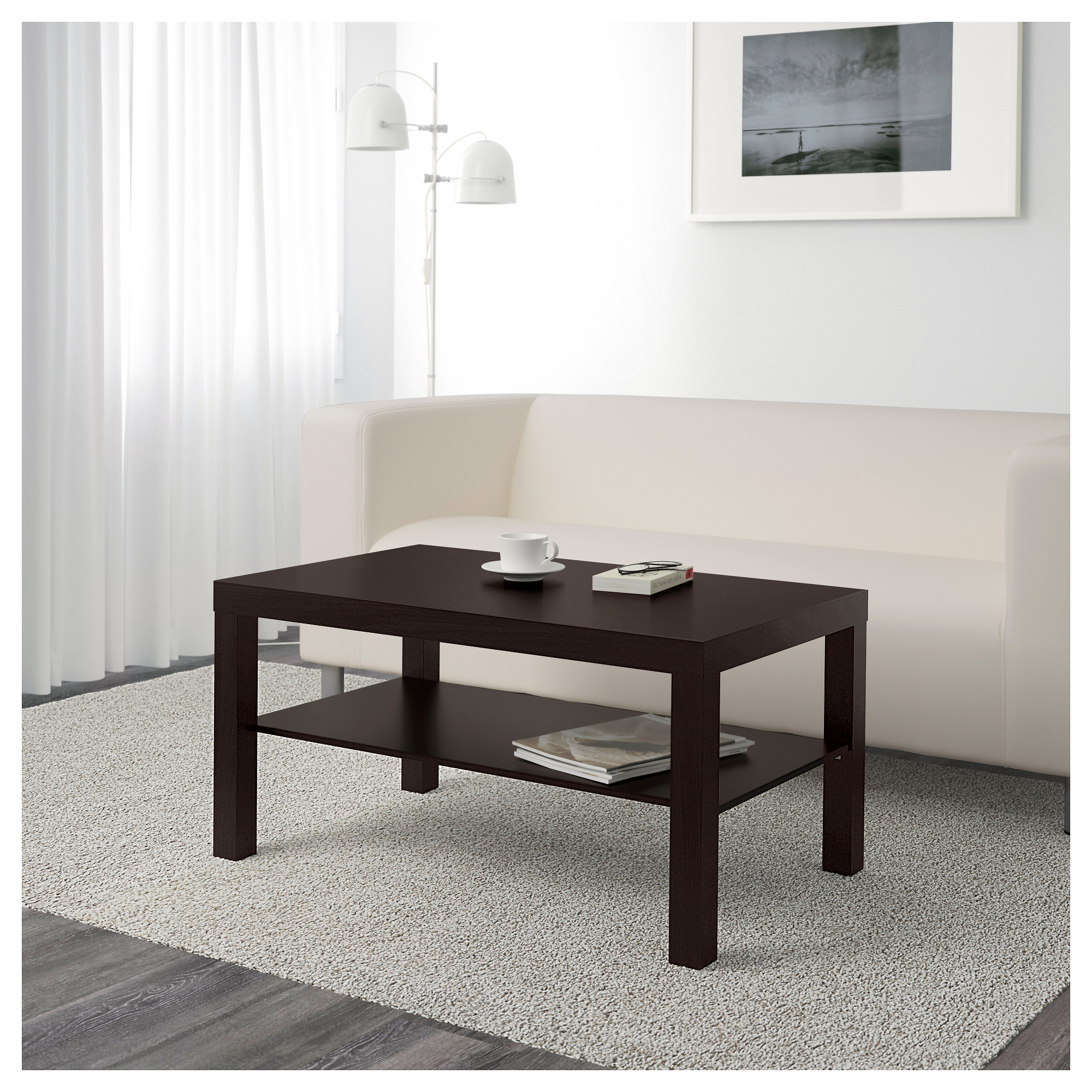 "LACK Coffee table black brown 35 3 8x21 5 8 "" IKEA"