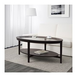 MALMSTA coffee table, black-brown