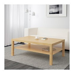 LACK coffee table, birch effect
