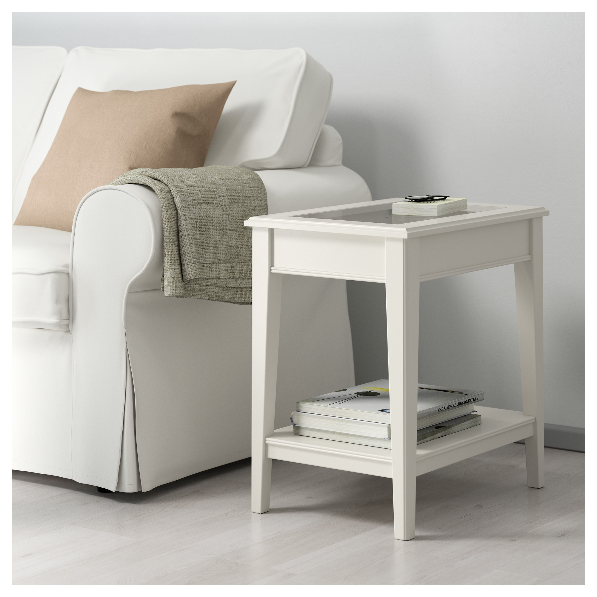 LIATORP Side table white glass IKEA