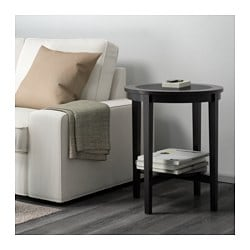 MALMSTA, Side table, black-brown