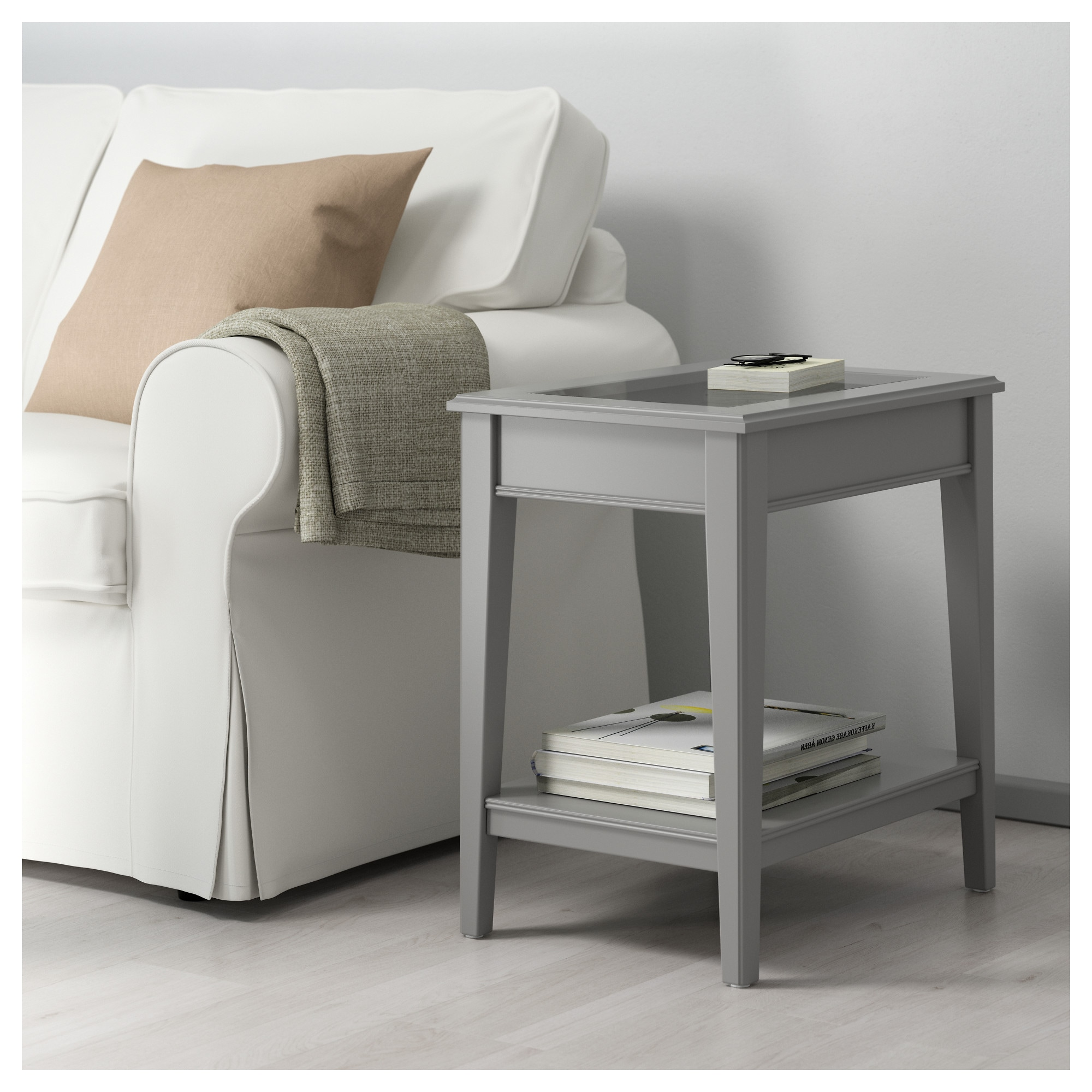LIATORP Side table gray glass IKEA