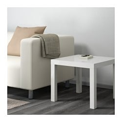 LACK, Side table, high gloss white