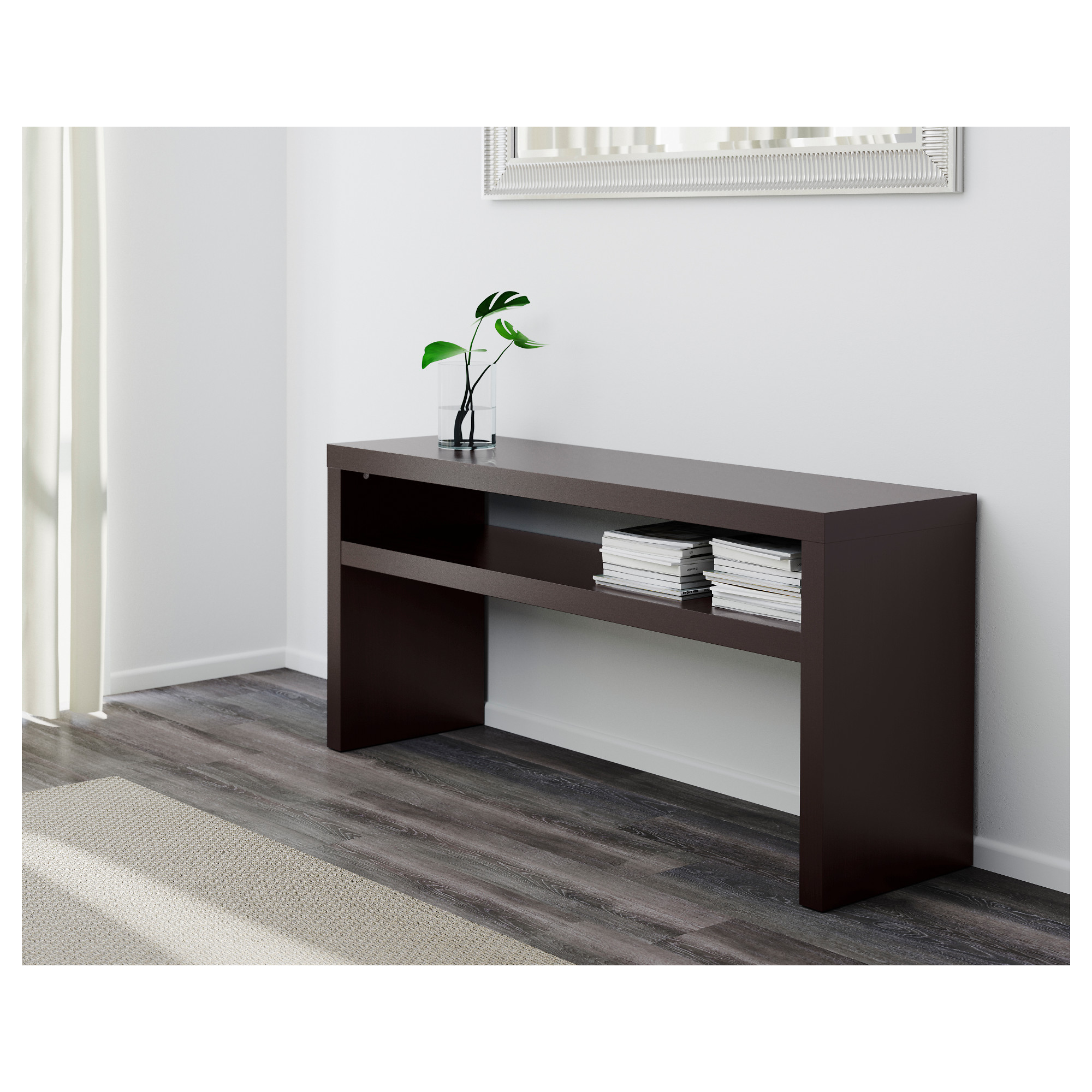 lack sofa table white console tables use hemnes sofa table as media center below wall thesofa. Black Bedroom Furniture Sets. Home Design Ideas