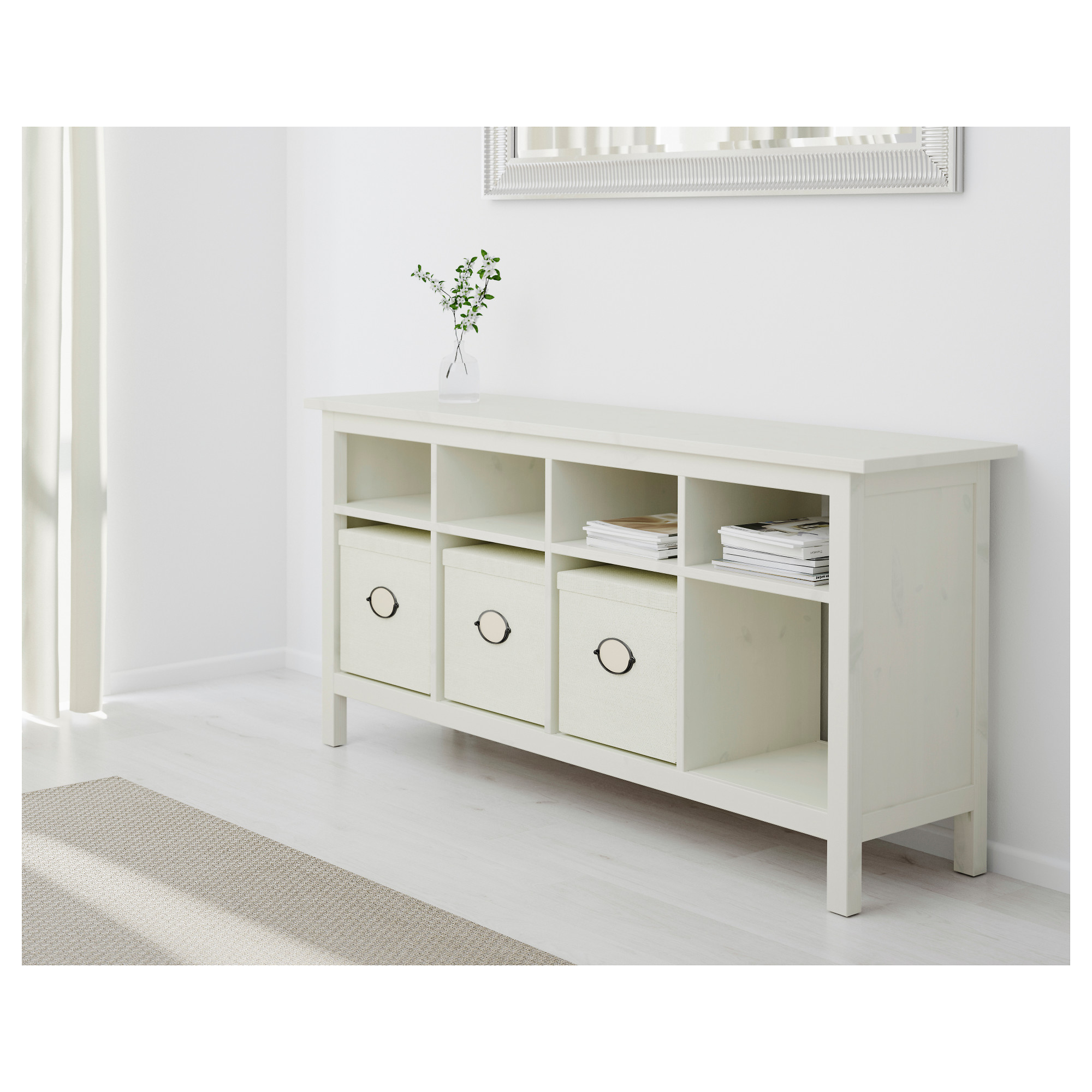 hemnes console table  white stain  ikea -