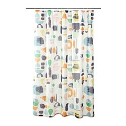 DOFTKLINT, Shower curtain, multicolor