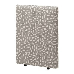 VALLENTUNA cover for back rest, Funnarp black, beige Width: 80 cm Height: 100 cm