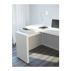 MALM Desk with pullout panel white IKEA