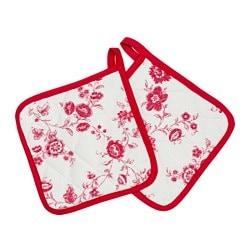 "INBJUDANDE pot holder, red Length: 8 "" Width: 8 "" Package quantity: 2 pack Length: 20 cm Width: 20 cm Package quantity: 2 pack"
