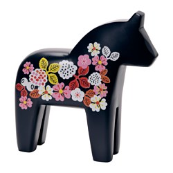 FINANSIELL decoration, horse, blue Length: 25 cm Height: 20 cm