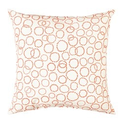 TRÄDASTER cushion, white, orange Length: 40 cm Width: 40 cm Filling weight: 170 g