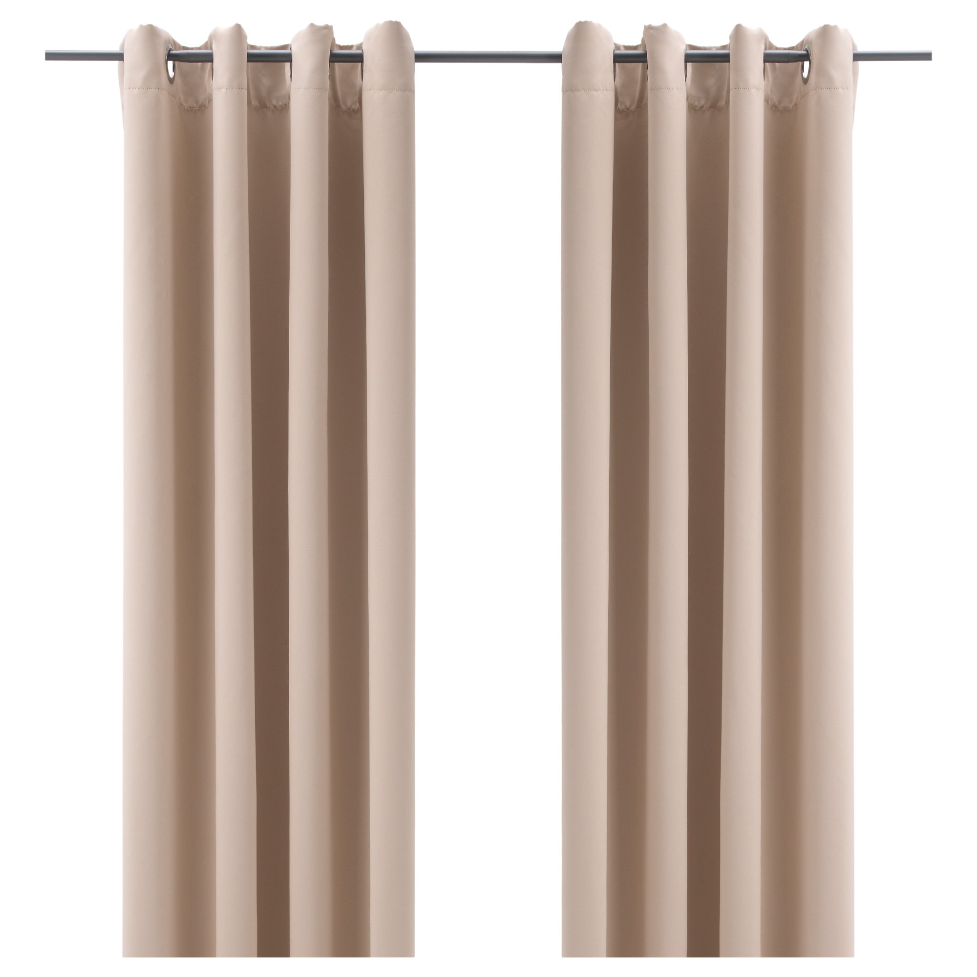 Navy curtains blackout - Bollolvon Blackout Curtains 1 Pair Beige Length 98 Width 57