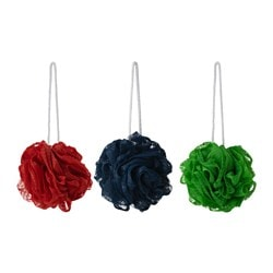 ÅBYÅN body puff, multicolour Package quantity: 3 pack