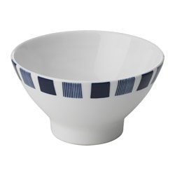 GJUTFORM rice bowl, blue, white Diameter: 12 cm Height: 7 cm