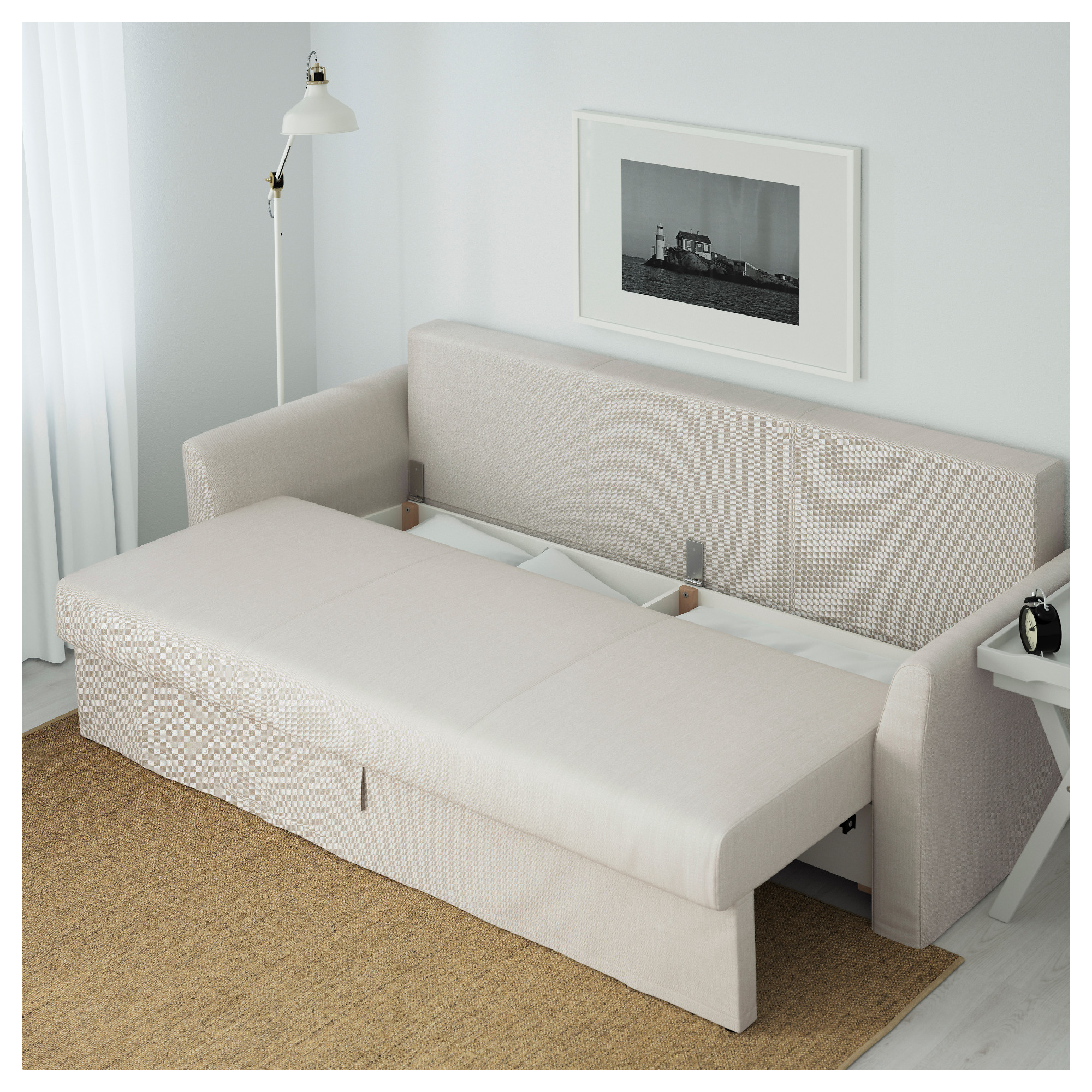 HOLMSUND Sleeper sofa Nordvalla medium gray IKEA
