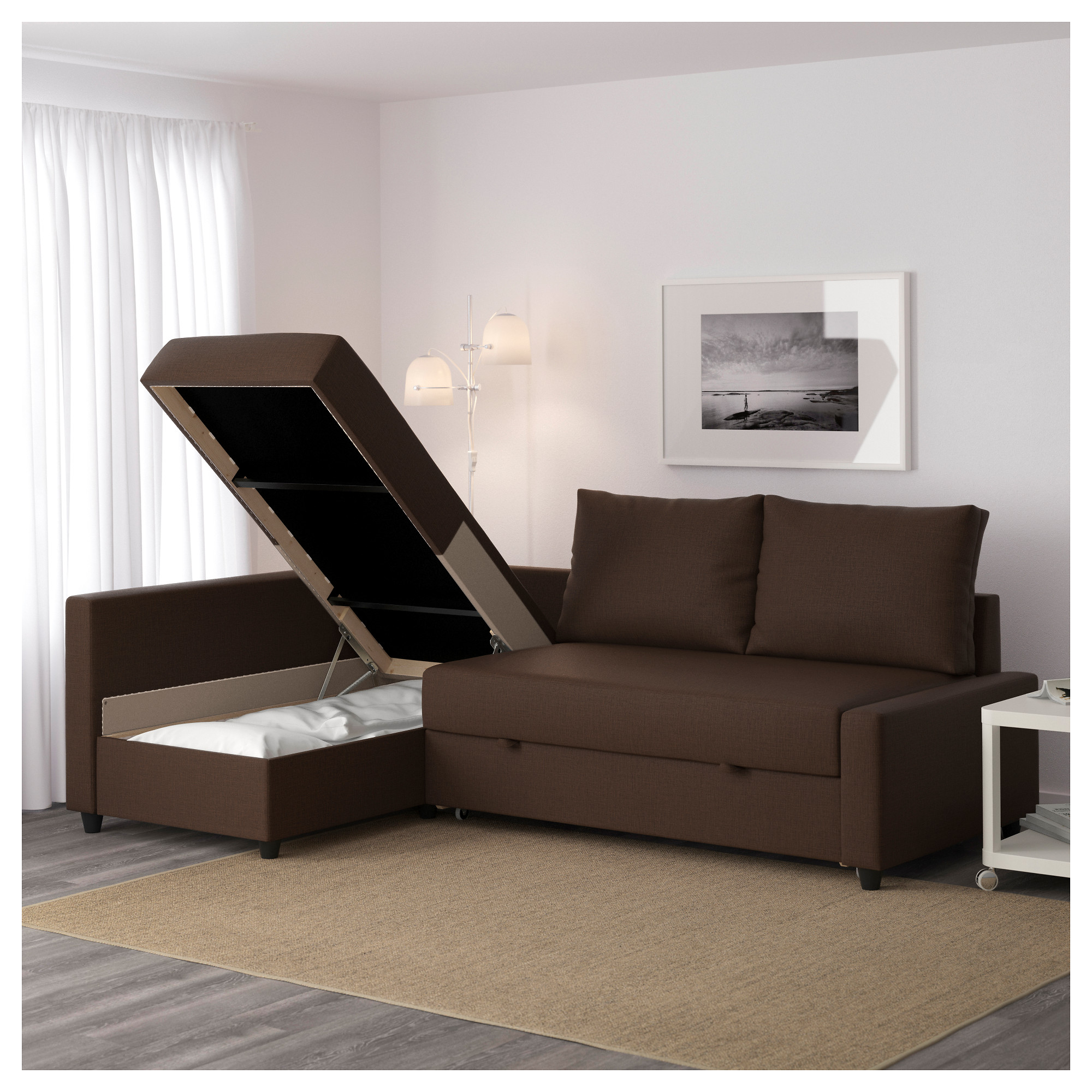 FRIHETEN Sleeper Sectional3 Seat W Storage