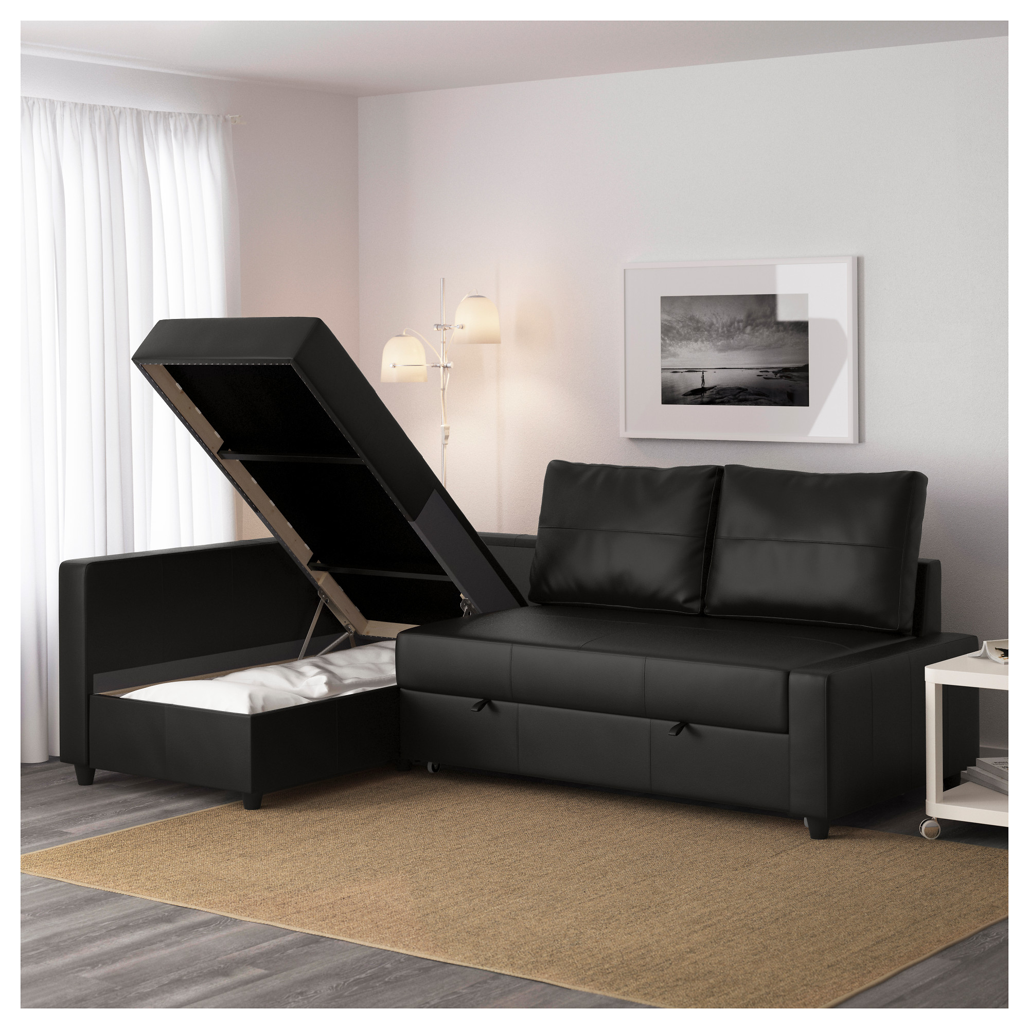 Couch Bed With Storage Part - 38: FRIHETEN Corner Sofa-bed With Storage - Skiftebo Dark Gray - IKEA