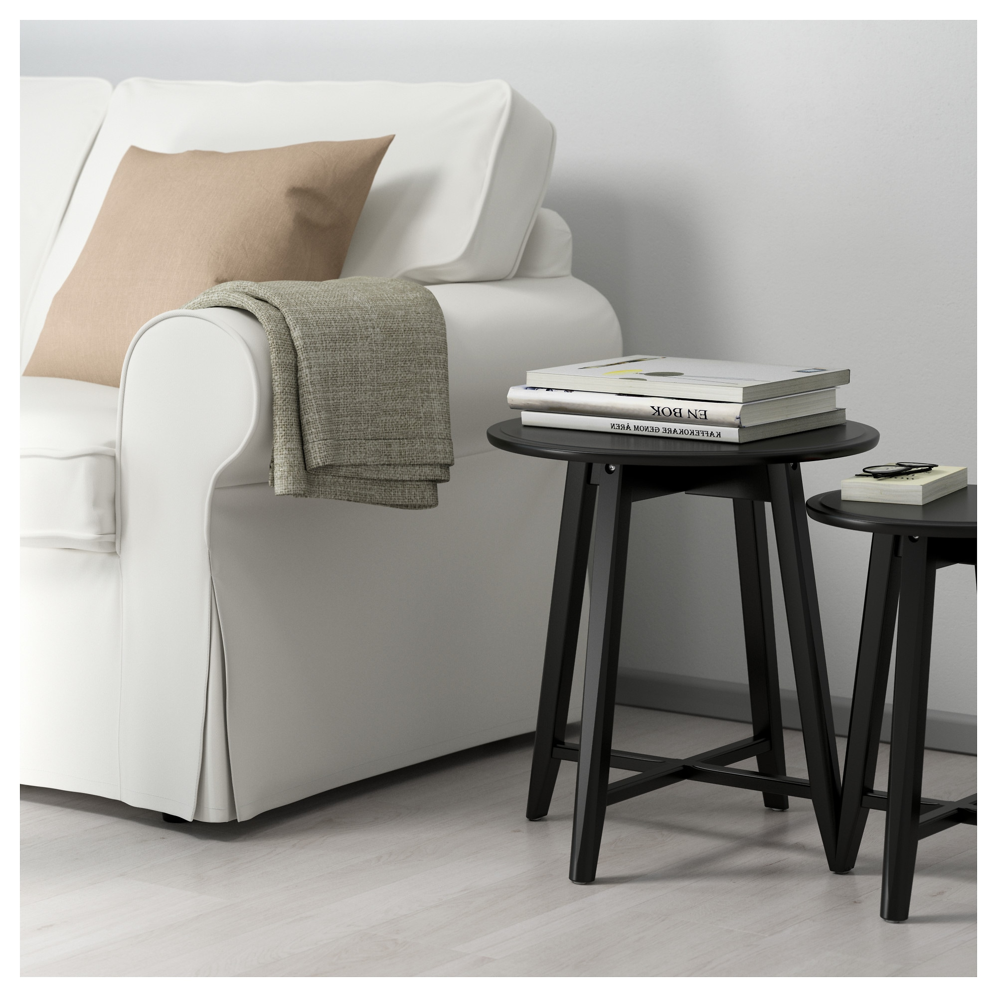Kragsta nesting tables set of 2 black ikea geotapseo Images