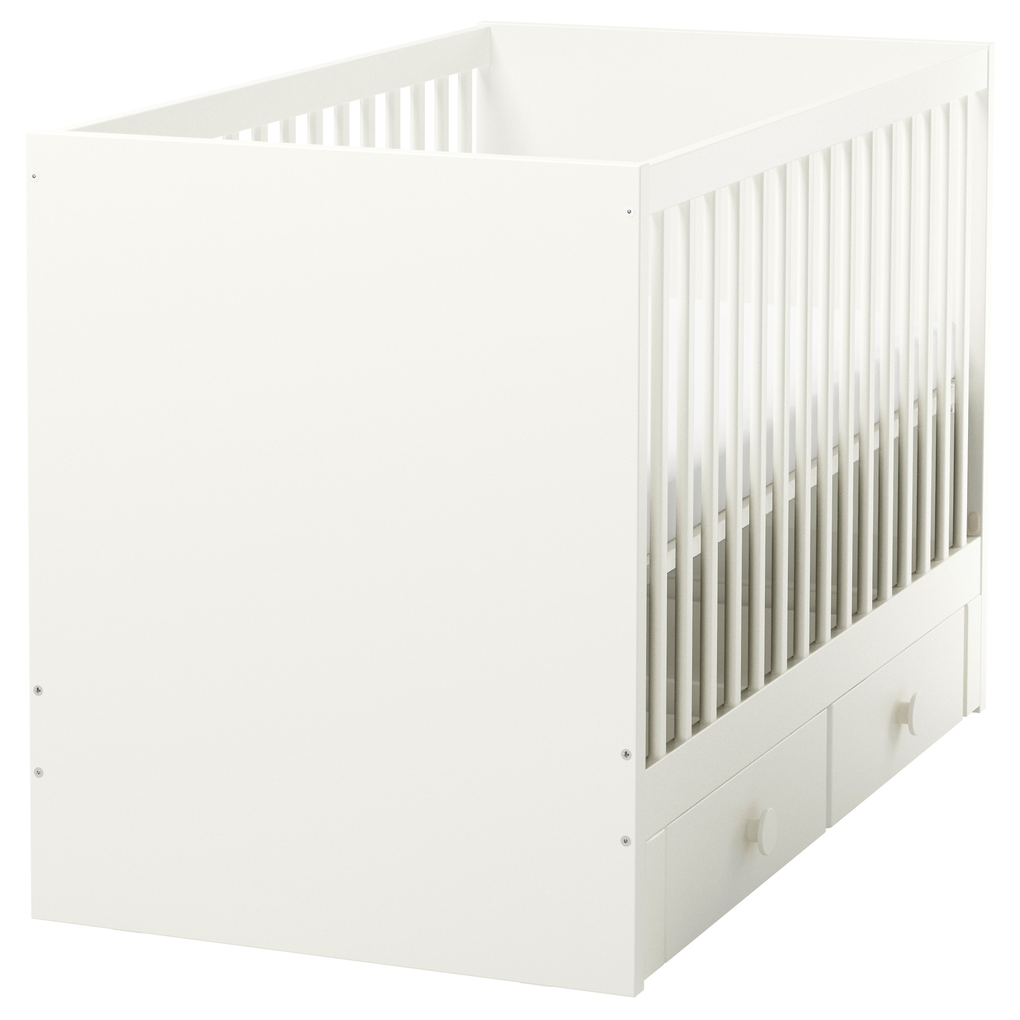 Crib heights for babies - Stuva F Lja Crib With Drawers White Length 54 3 4 Width