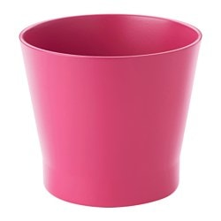 PAPAJA plant pot, dark pink Outside diameter: 14 cm Max. diameter flowerpot: 12 cm Height: 13 cm