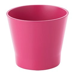 "PAPAJA plant pot, dark pink Height: 4 ¼ "" Outside diameter: 5 "" Max. diameter inner pot: 4 ¼ "" Height: 11 cm Outside diameter: 13 cm Max. diameter inner pot: 10.5 cm"
