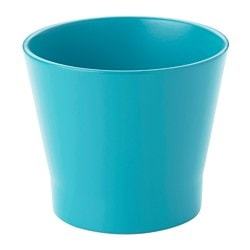 "PAPAJA plant pot, turquoise Height: 4 ¼ "" Outside diameter: 5 "" Max. diameter inner pot: 4 ¼ "" Height: 11 cm Outside diameter: 13 cm Max. diameter inner pot: 10.5 cm"
