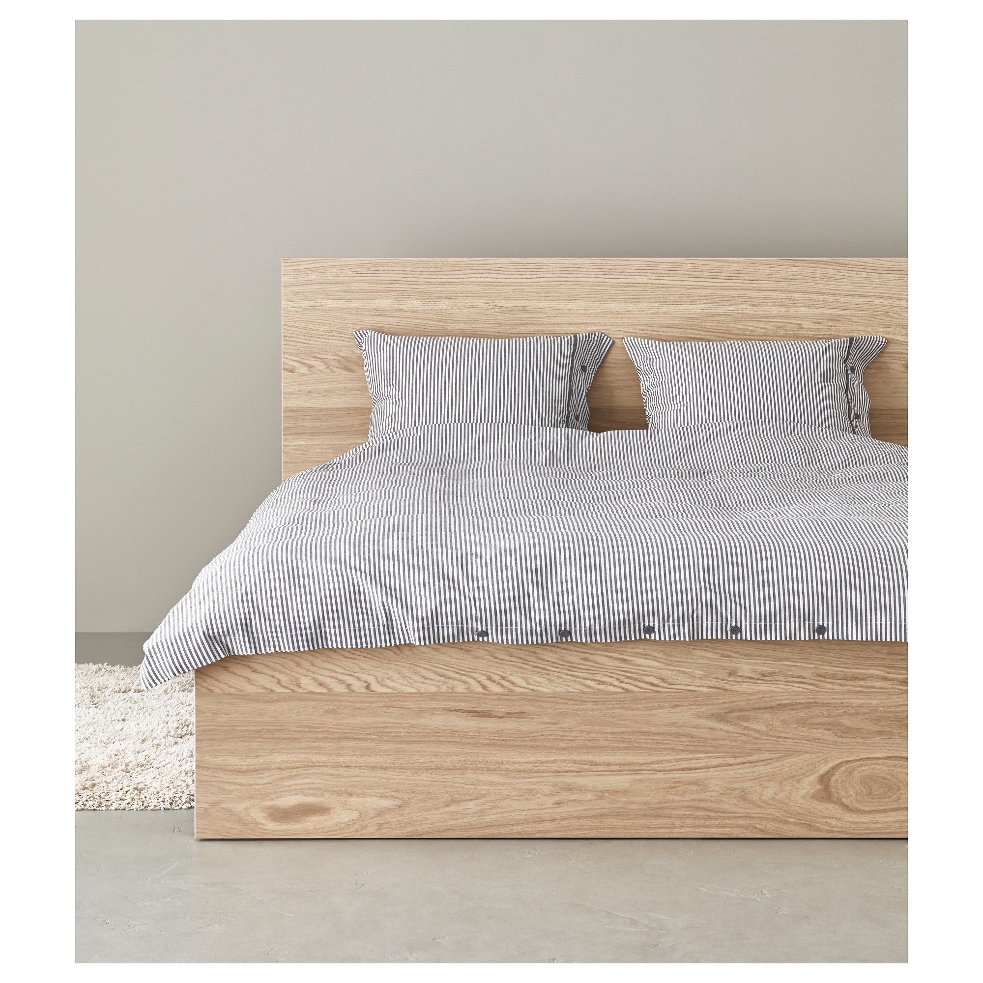 MALM Bed frame high white Queen Luröy IKEA