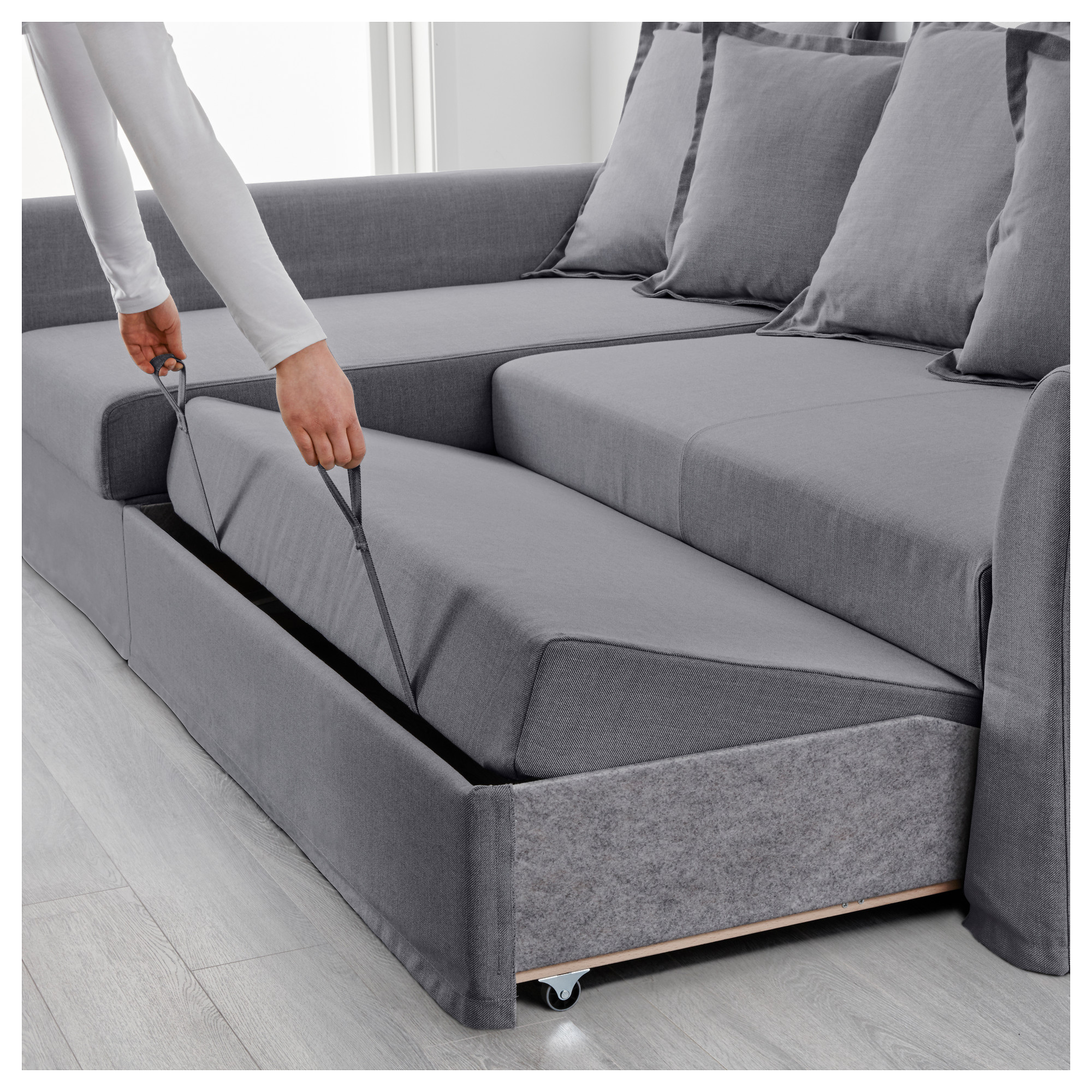 Delicieux HOLMSUND Sleeper Sectional, 3 Seat   Nordvalla Medium Gray   IKEA