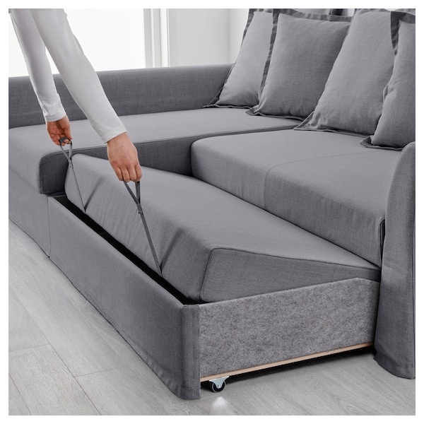 Sleeper sectional, 3-seat HOLMSUND Nordvalla medium gray