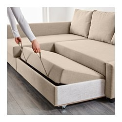 Friheten Sleeper Sectional Seat W Storage Skiftebo Dark Gray