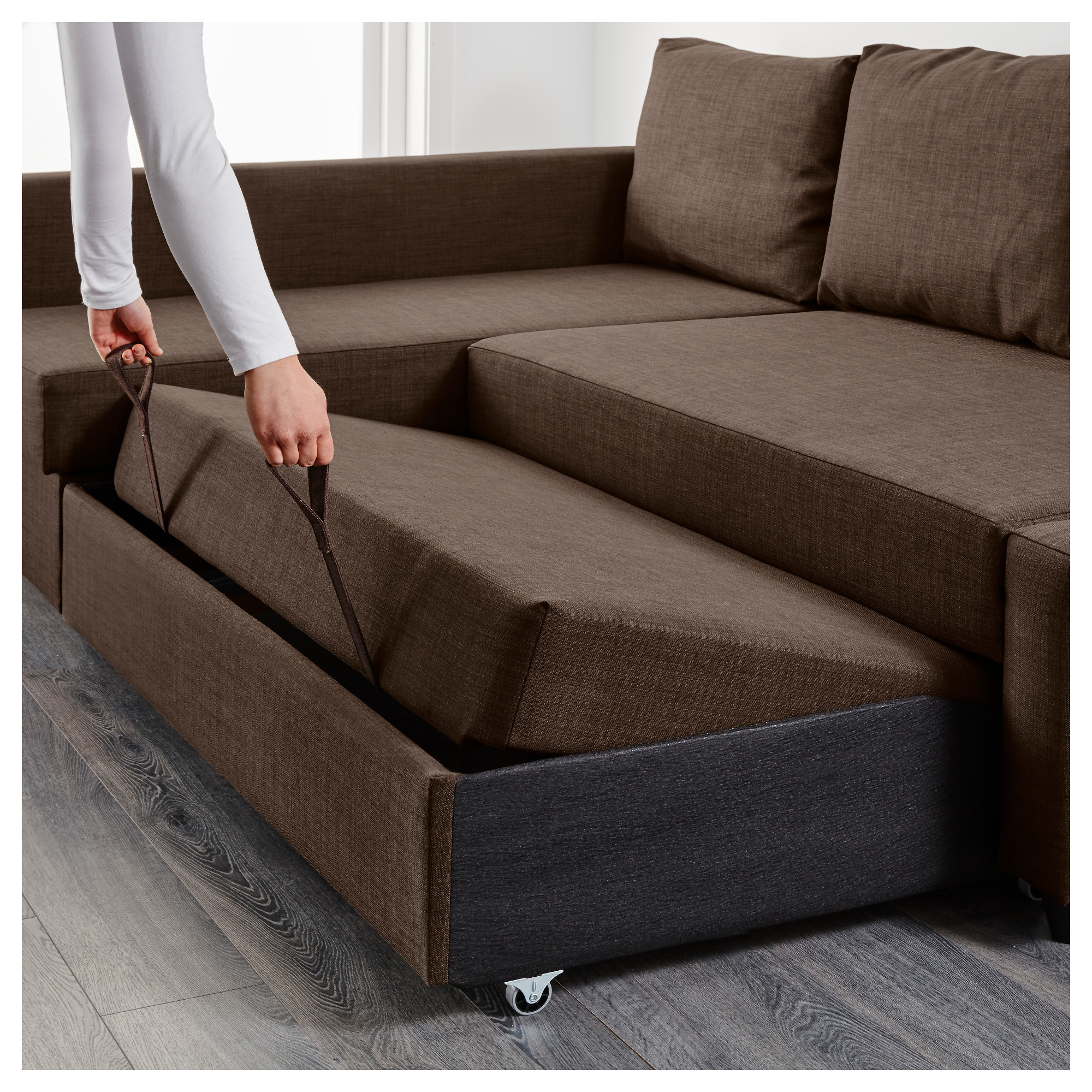 Couch Bed With Storage Part - 24: FRIHETEN Corner Sofa-bed With Storage - Skiftebo Dark Gray - IKEA