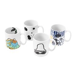 "SPRIDD mug, assorted patterns Height: 4 "" Volume: 14 oz Height: 10 cm Volume: 40 cl"