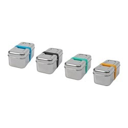 SPRIDD box with lid, set of 2, assorted colours Length: 18 cm Width: 9.5 cm Height: 8.0 cm