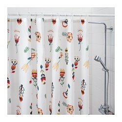 orange and grey shower curtain. ROSENFIBBLA Shower Curtain  White Floral Pattern IKEA