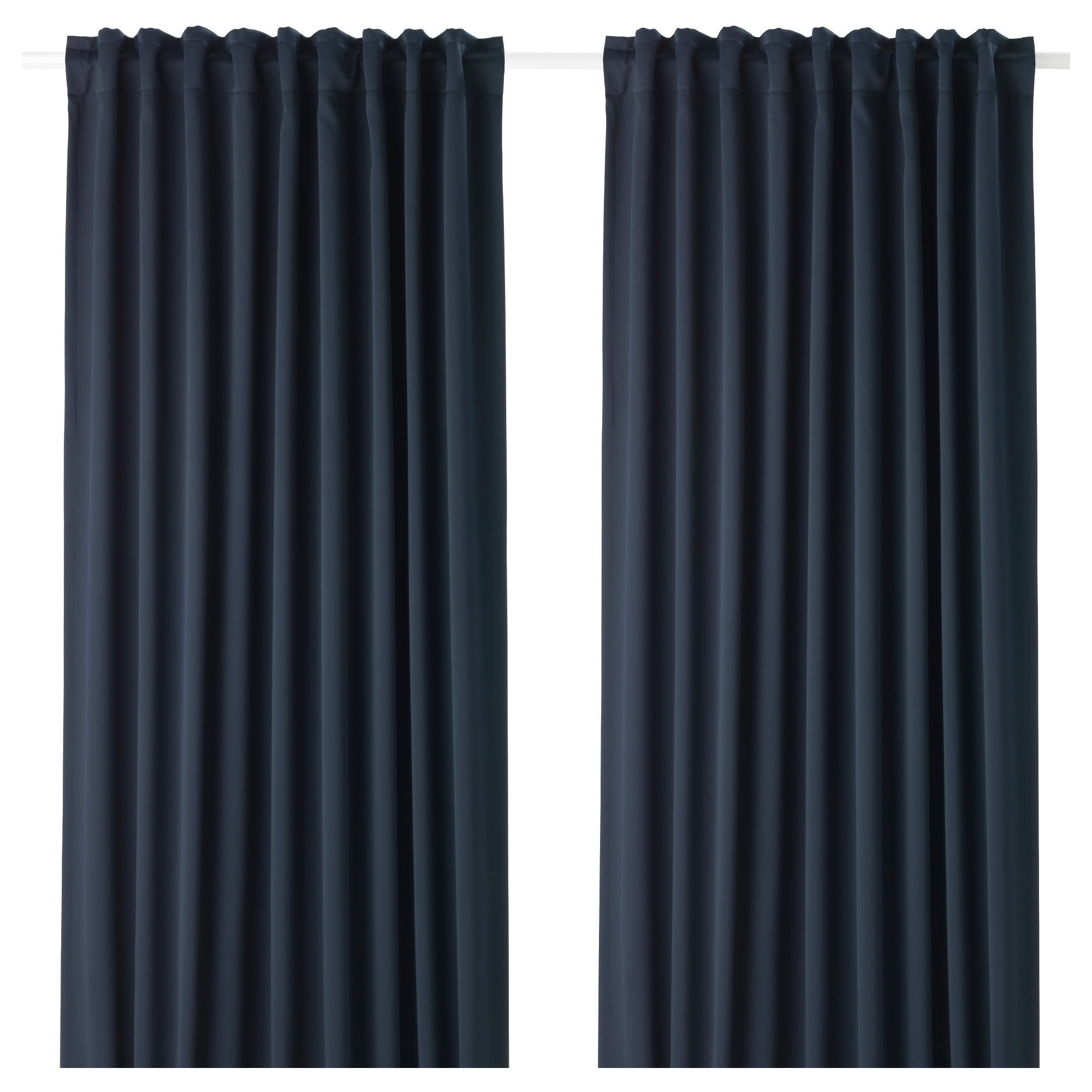 Grey curtains living room - Majgull Blackout Curtains 1 Pair Dark Blue Length 98 Width 57